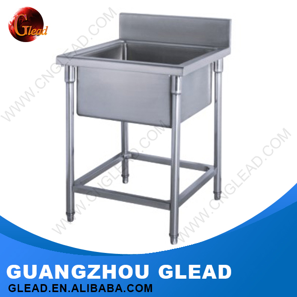 Professional custom free standing stainless steel kitchen sink