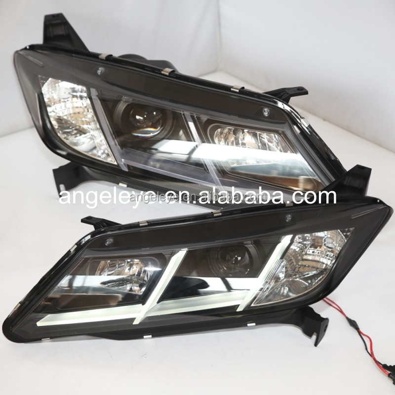 For HONDA for City LED Head Lamp 2014 year with Bi Xenon Projector Lens SN