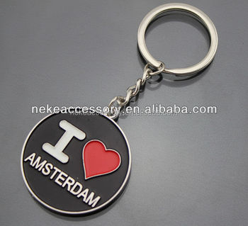 holland tourist souvenirs netherlands customized enamel key chain Personalized keychain