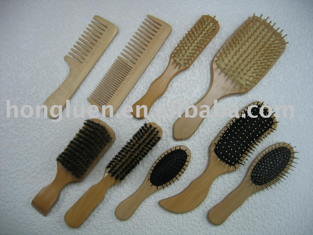 OEM Logo Printed Variety Kinds Wooden Brush Comb Set