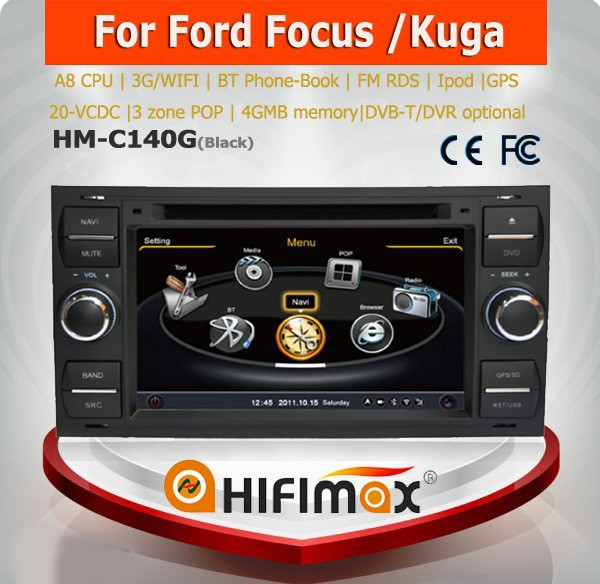 Hifimax Car DVD GPS Head unit for Ford c-max with Navigation A8 Chipset 20-V-CDC 4G Rom