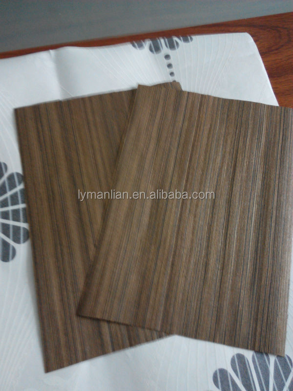 sliced cut artifical wenge wood veneer from zhenhua wood