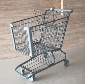 zinc supermarket shopping trolley cart for 125L