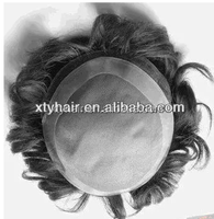 Alibaba express hot selling India men's toupee, poly all around fine mono Lace,1cm front lace human hair toupee/wig for men
