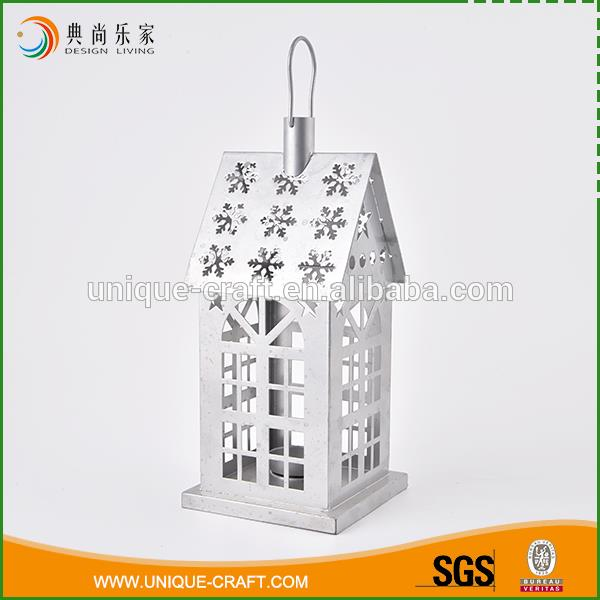 House design antique hanging metal lantern candle holder