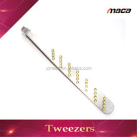 TW1262 High quanlity popular jewellery series high precision tweezers eyebrow tweezer