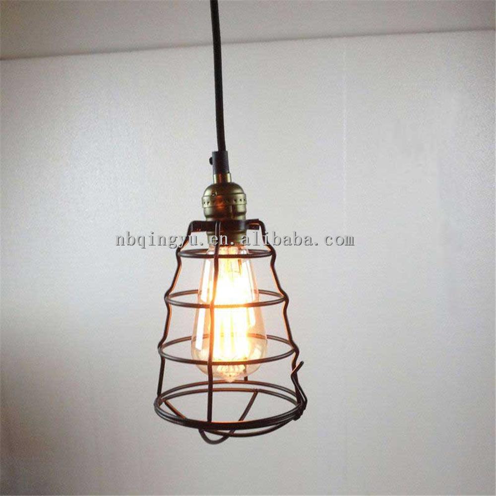 Industrial Retro Metal Wire Light Bulb Guard Vintage Black Bird Cage ...