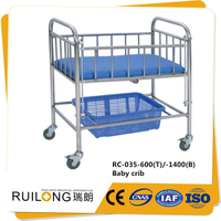 RC-035 stainless steel hospital infant bed for baby