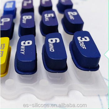 Custom Made Silicone Rubber+Plastic POS Keypad