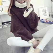 zm32720a fancy images of ladies casual loose plus size tops women high neck sweater