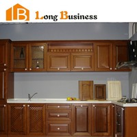 LB-DD1021 Ready Made Wall Mounted Solid Wooden Kitchen Cupboard