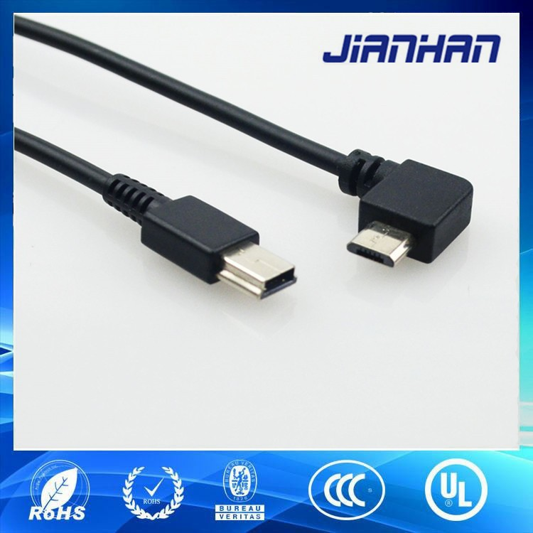 braided cable micro usb to mini usb adapter cable with factory direct price