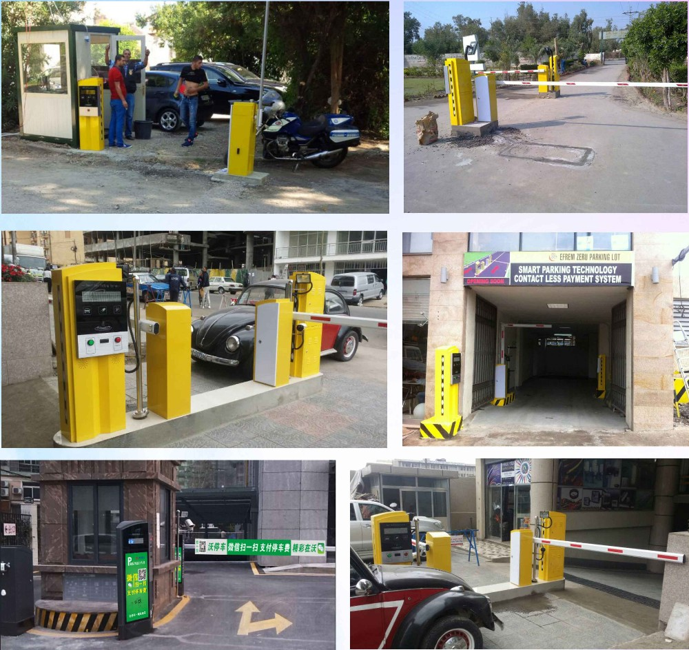 RFID and Barcode Ticket Vehicle Access Control Auto Payment car parking system
