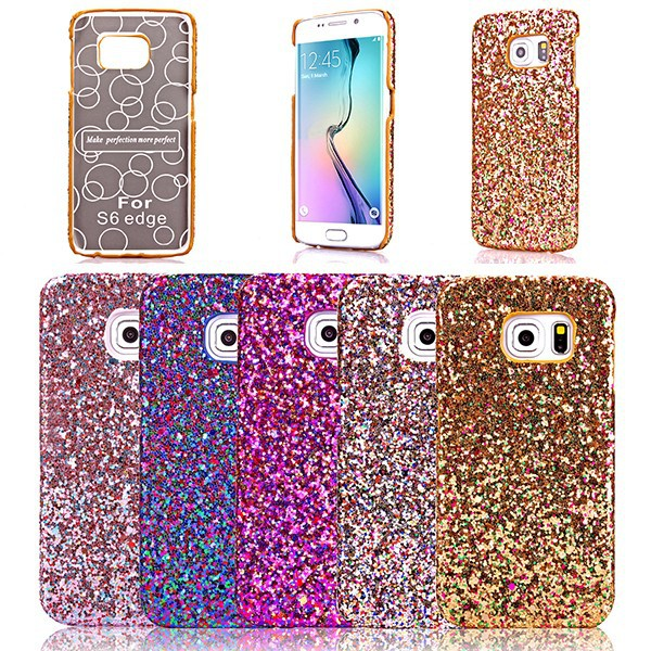 Colorful Bling Glitter PU Skin Case Cover For Samsung Galaxy S6/S6 Edge