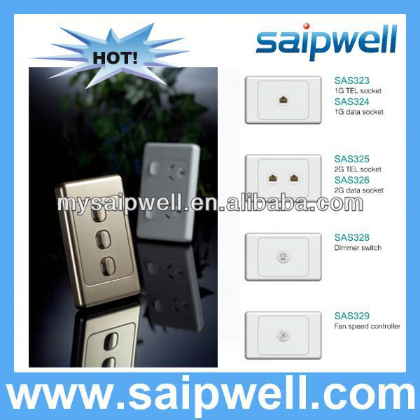 1G TO 6G AUSTRALIAN STANDARD WALL MOUNT BUTTON LIGHT SWITCH