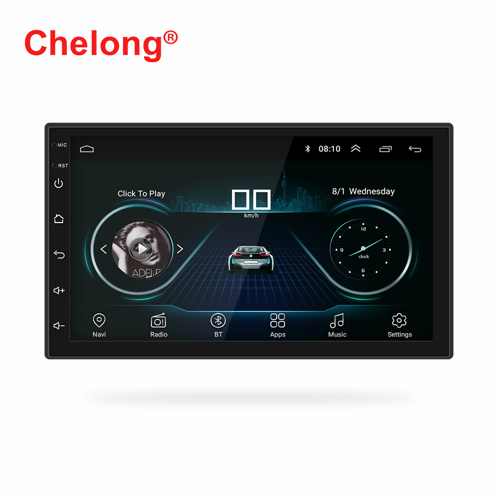 "7"" 2 Din Android 8.1 Car Radio Universal GPS Navigation Bluetooth WiFi 1024*600 Autoradio Stereo FM Audio camera car MP5 Player"