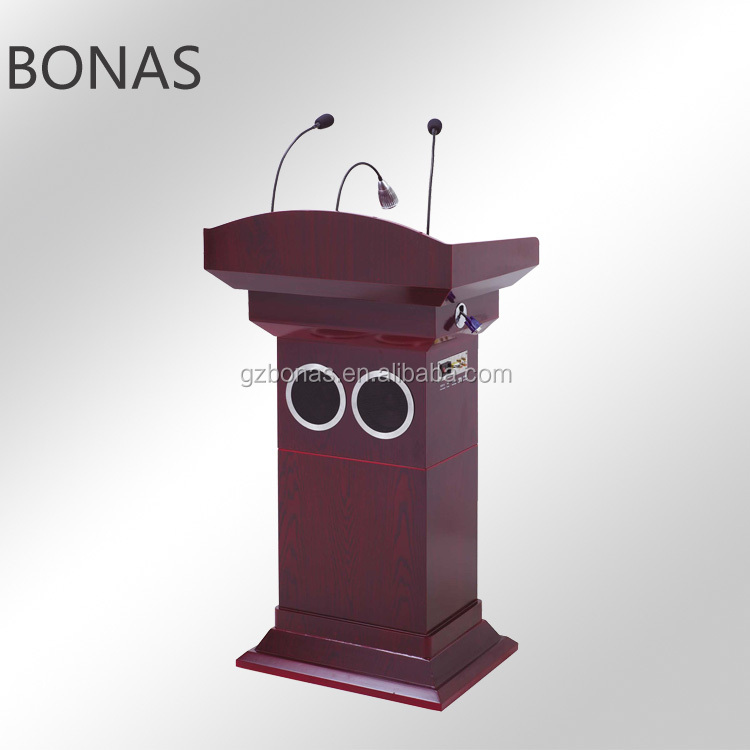 Wooden rostrum, digital podium, adjustable podium