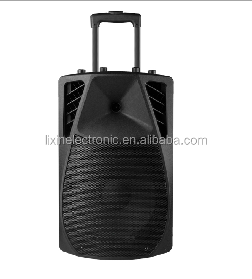 bluetooth rechargeable trolley portable speaker with bluetooth/Active trolley battery speaker with led light