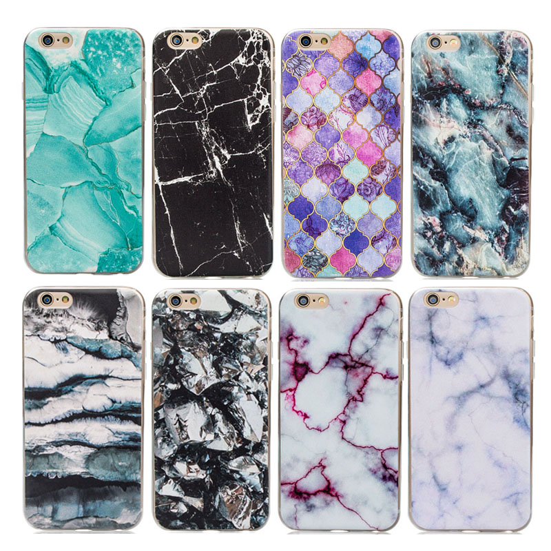 Customzie OEM UV printing fashion Marble Stone pattern clear soft tpu phone case cover for iphone 5 5s SE 6 6s 7 plus