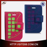 Made in China celular phone flip leather funda for bb9800