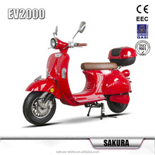 Mobility Scooter Motorcycle 60v EEC Classic model vespa brushless lithium electric scooter electric motorcycle