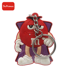 China factory price new deisgn custom logo 3D silicone key tag chain ring keychain