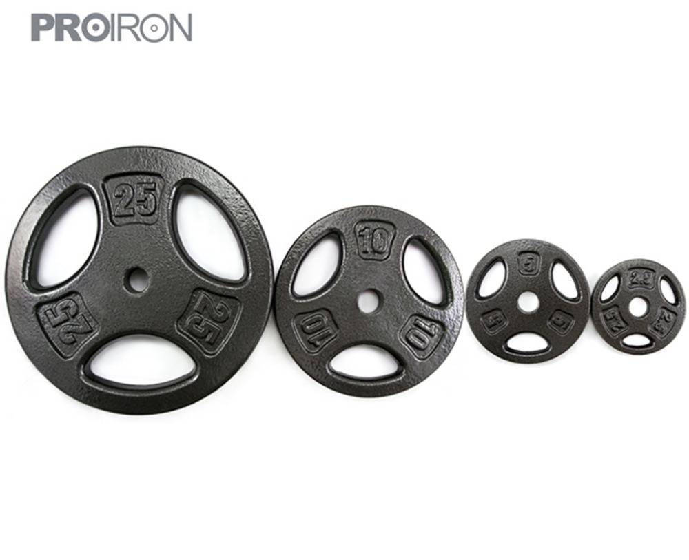 PROIRON Hot-sale Cast Iron Weight Plates Set in different weights for Weight Lifting