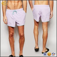 Ecoach Wholesale OEM Men Short Length Runner Swim Shorts Mesh Lining Side pockets Drawstring waistband Beach Board Purple shorts