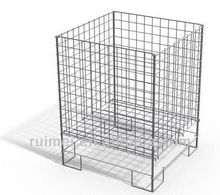Custom commercial Wire display shelving / square dump bins for storage merchandise