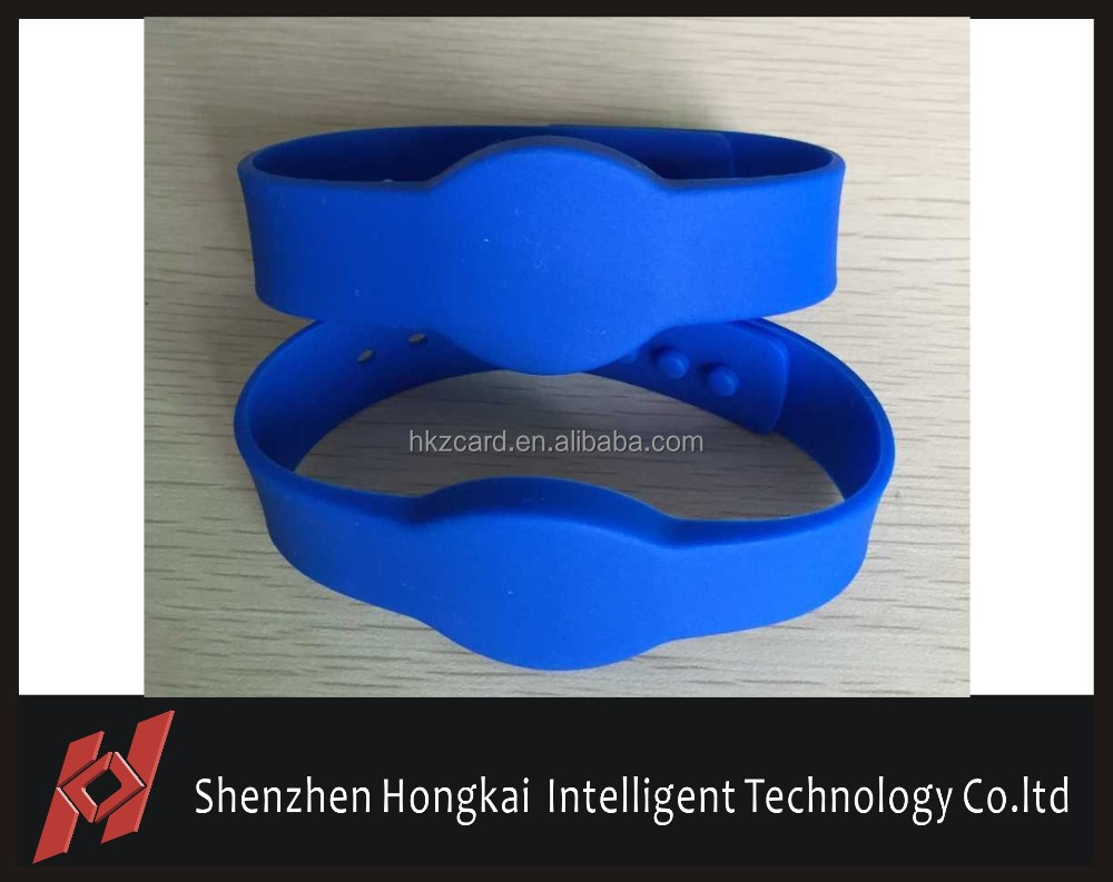 Rubber RFID LF/HF/UHF Wristband Bracelet for Water Park