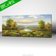 Print photo of beautiful field scenery art impression decor for lobby
