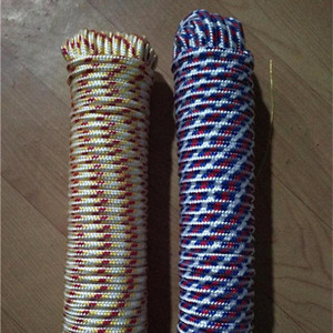 flat marine cotton raffia pvc kernmantle nylon hollow braid polyester silk string double braided rope