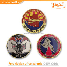 Pressed silver plated zinc alloy birthday challenge coin for gift