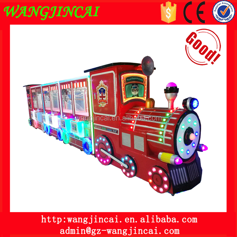 coin operated small train gift vending game machine travel round the world claw crane toys catcher arcade machines