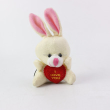 Hot sale cute mini stuffed rabbit plush keychain