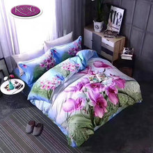 Chinese supplier wholesale bedding set 3d printing bed sheet bedding duvet cover set