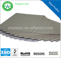 2000gsm triplex paper board for notebook grey paper back