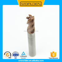 4 Flutes Carbide Flat Bottom End Mills, CNC Lathe Cutting Tools, Carbide Milling Cutter