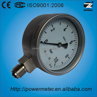 100mm wika pressure gauge stainless steel case bottom connection glycerine or silicone oil filled pressure gauge for sale
