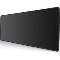Extended Black Gaming Mouse Pad with Stitched Edges, Large Mousepad with Premium-Textured Cloth, Non-Slip Rubber Base