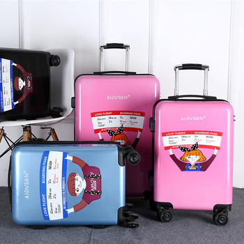 Fashion Conch Grain Hardshell ABS PC Travel Luggage set