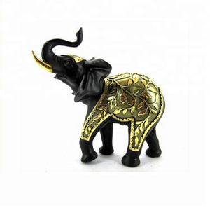 2015 new style personalized golden appearance resin elephants gifts crafts stocks