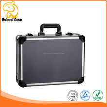 Aluminum Material and Case Type small aluminum equipment instrument carrying tool case with lid pocket and removeable dividers