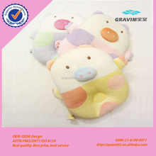 Cute colorful animal pig shape baby head shaping pillow