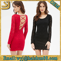 sexy long sleeve evening muslim sexy low back dress