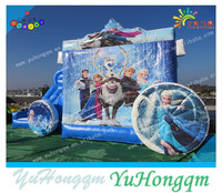 2015 new product frozen theme jumping castle bounce house inflatable bouncer