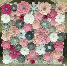 Wholesale Artificial Paper Flowers Wall Backdrop Wedding Decoration