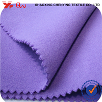 Chenying textile fabric purple color fashion cloth material fleece fabric