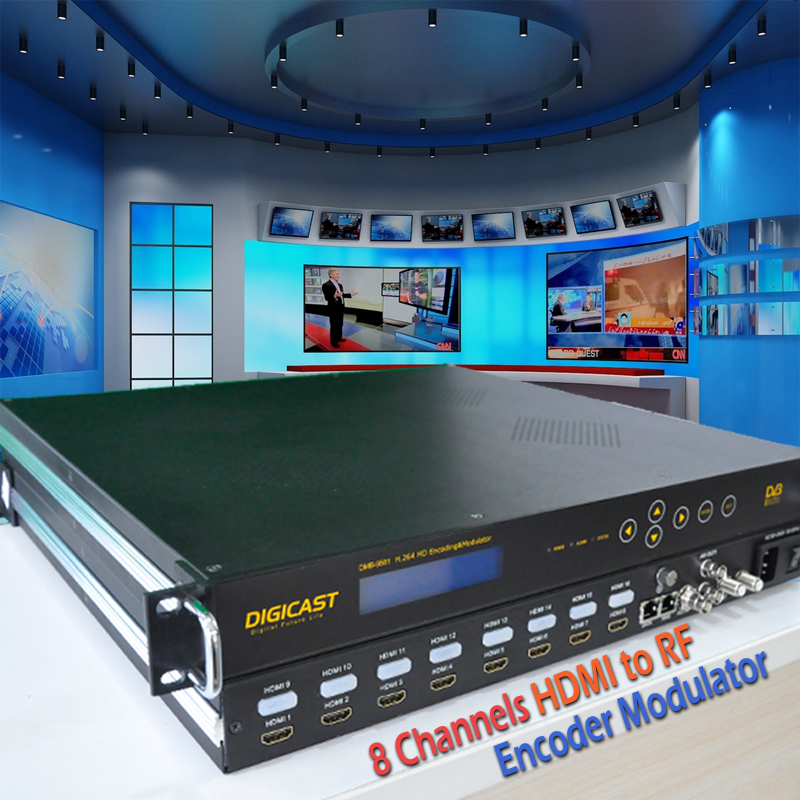Turn HDMI to digital RF broadcast to unlimited TVs or Set Top Box via existing coax cable H.264 HD Encoding Modulatorturn