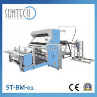 SUNTECH Heavy Duty Fabric Checking Equipment Cloth Inspection Rolling Machine